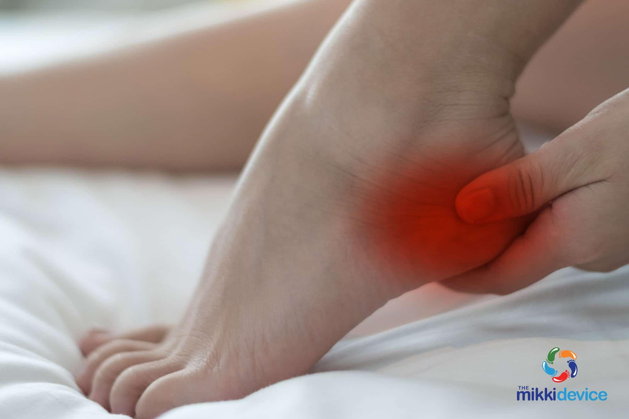 Heel pain from severs disease