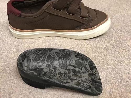 sever's disease custom orthotic shoe insert